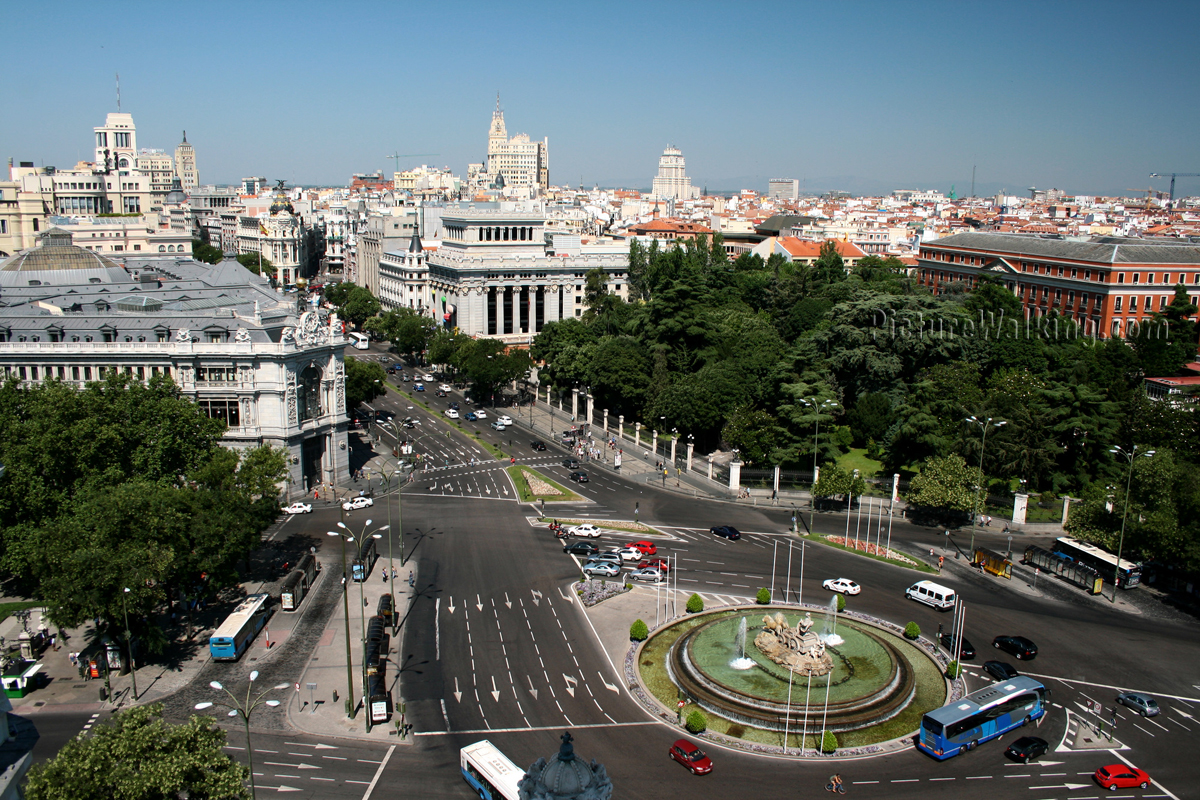 Places around the world Madrid-west-view