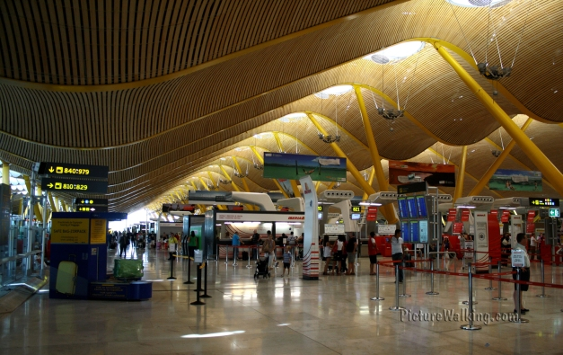 Departure Halls and Check In Areas Barajas Airport